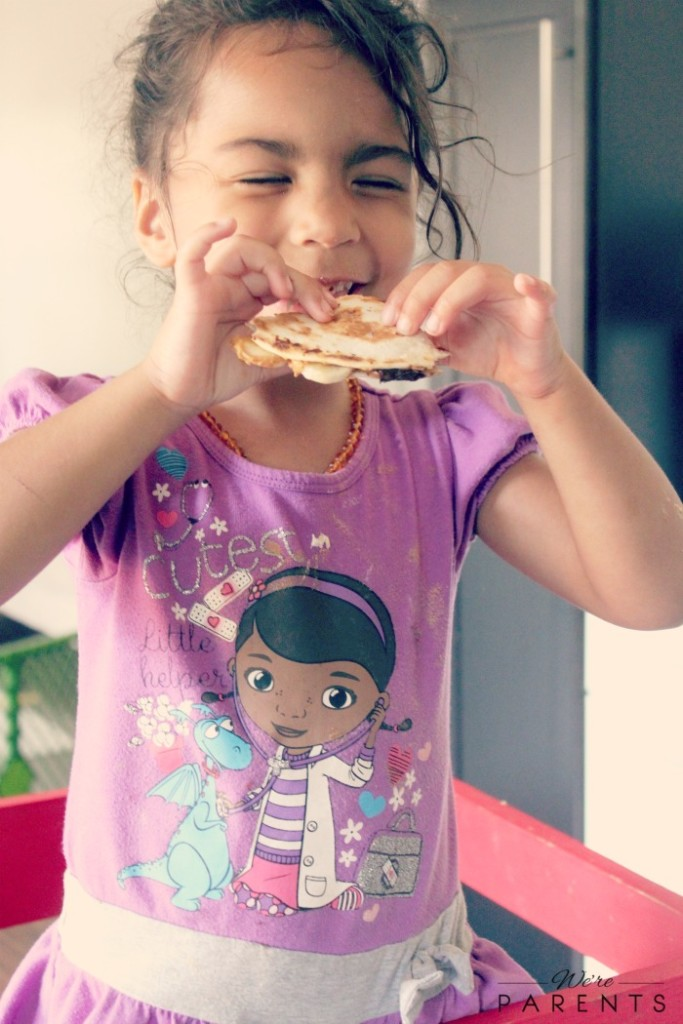 kids snack quesadillas