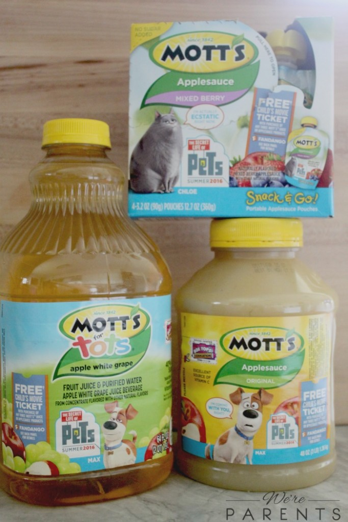 motts applesauce secret life of pets