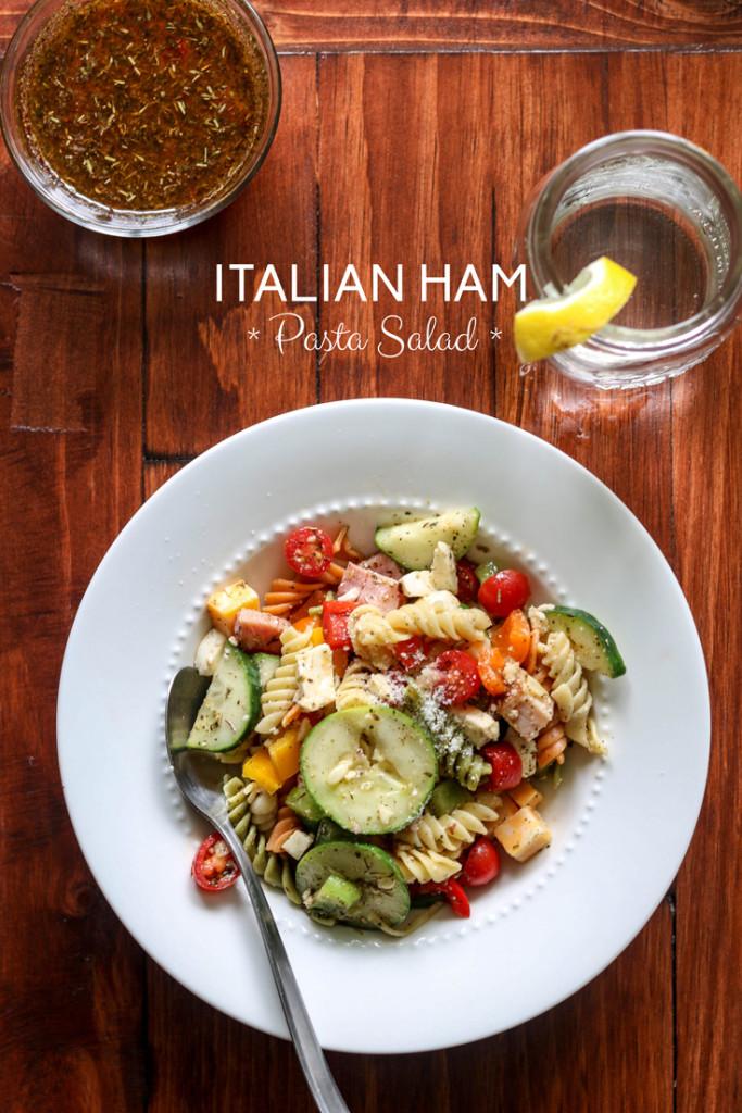 Homemade-Italian-Ham-Pasta-Salad