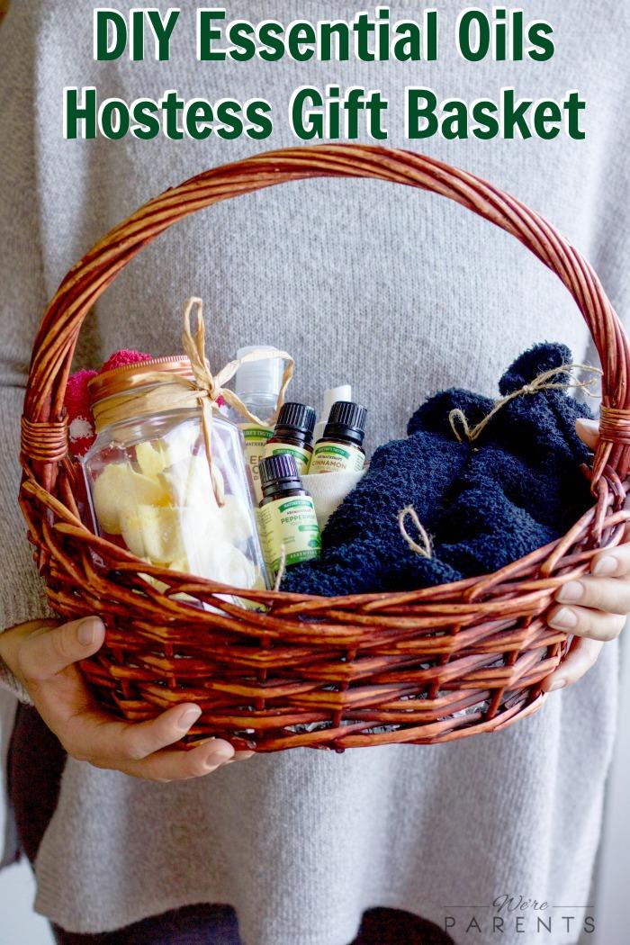 Diy essential oil hostess gift basket were parents diy essential oils hostess gift basket negle Images
