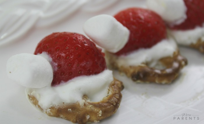easy-holiday-snack-pretzel-santa-hats
