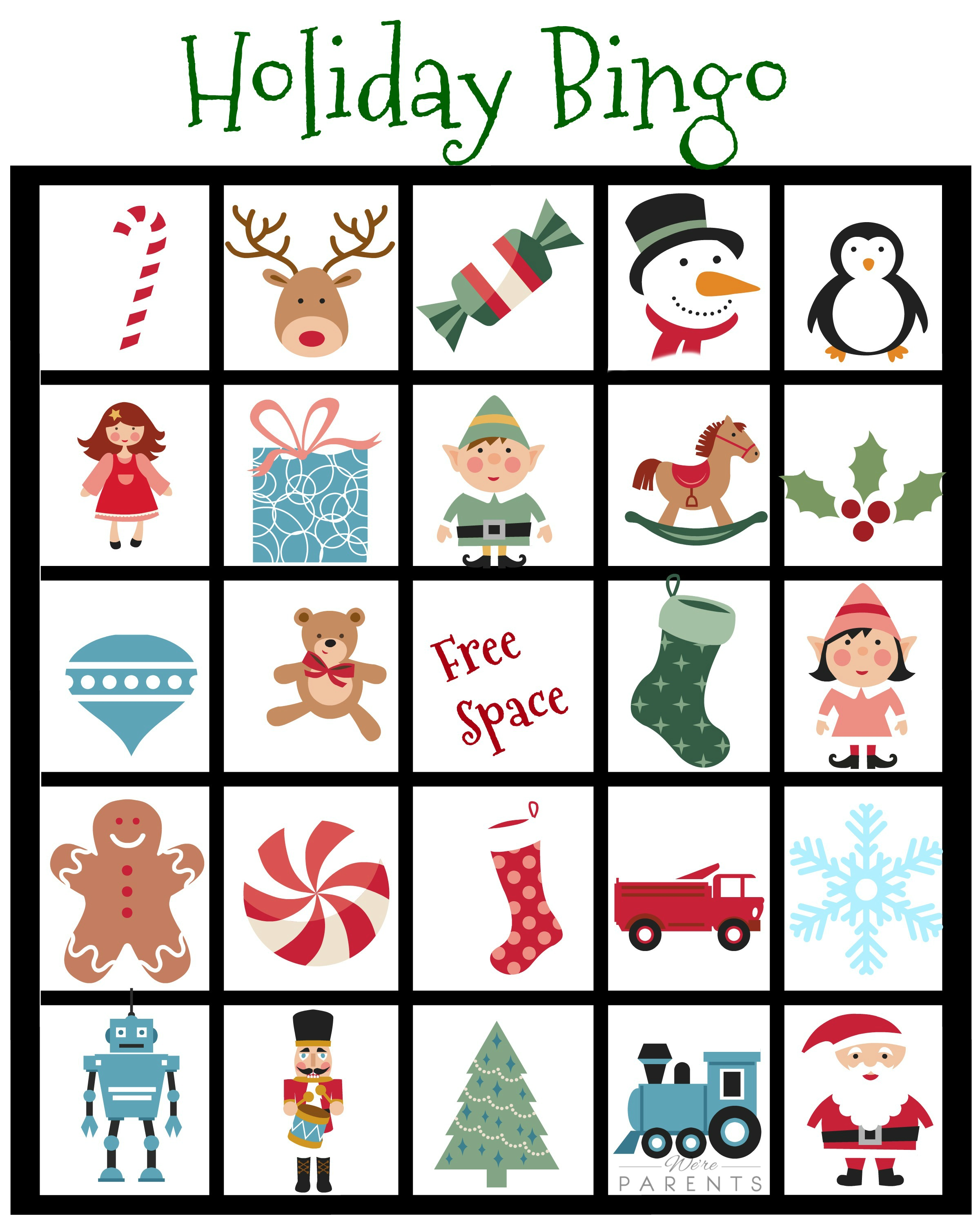 Candid image regarding christmas bingo printable