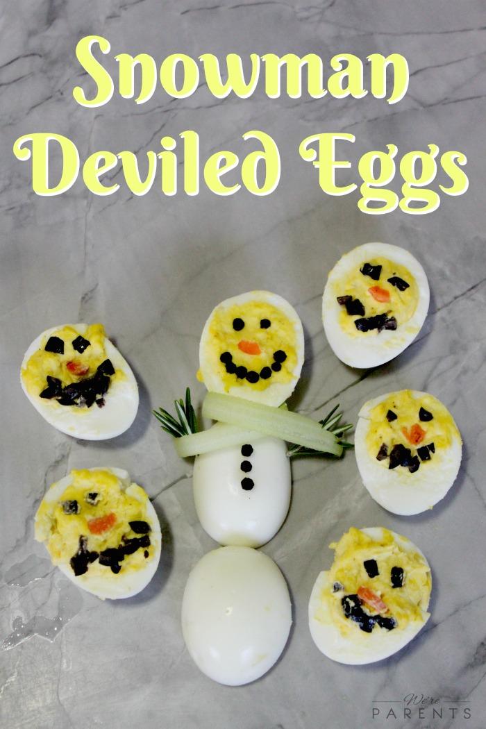 Cracking Eggs Snowman Deviled Eggs We Re Parents