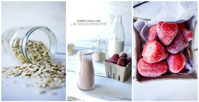 Strawberry Coconut Cashew Lactation Smoothie