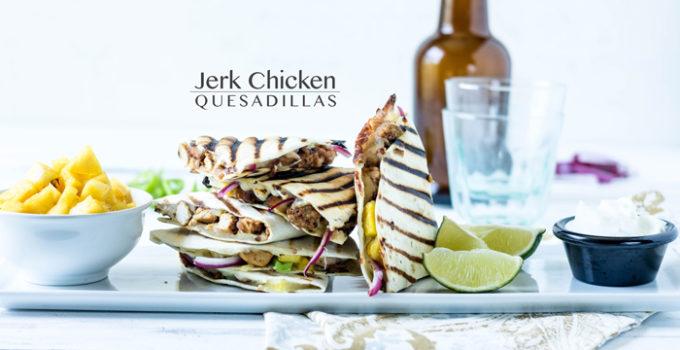 Jerk Chicken Quesadillas