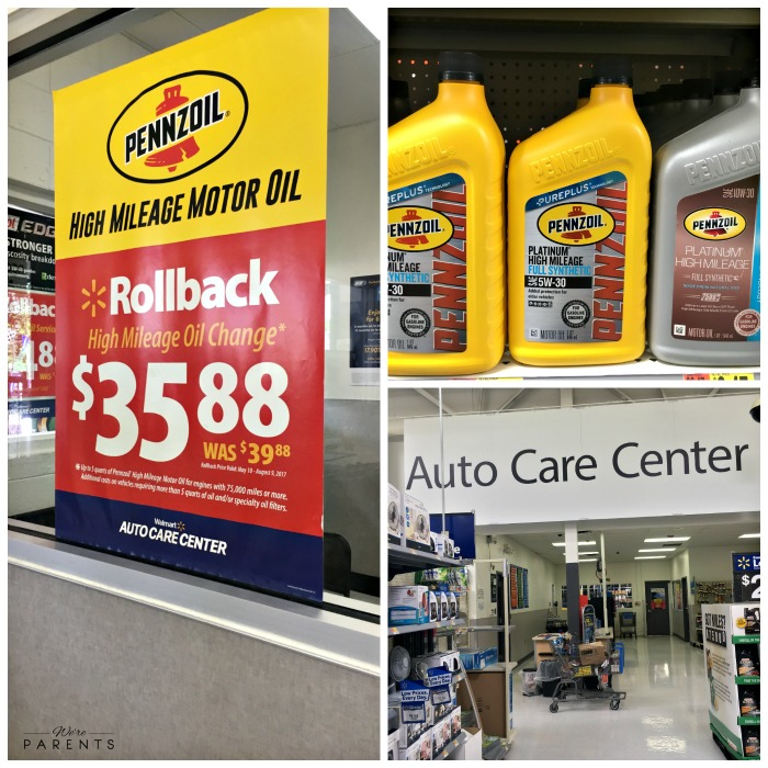 Pennzoil Walmart Auto Care Center Oil Change We Re Parents