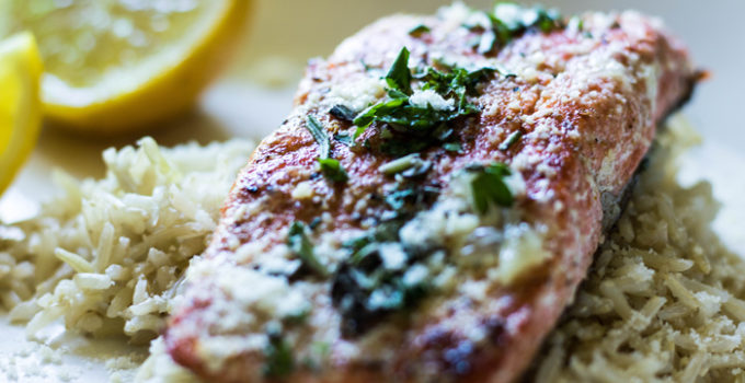 Lemon Herb Butter Salmon