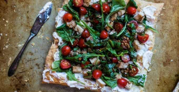 Chicken and Goat Cheese Tart