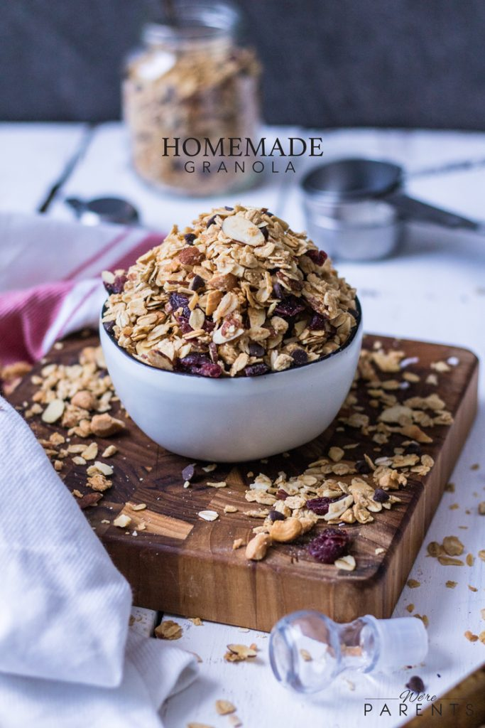 homemade cranberry chocolate granola
