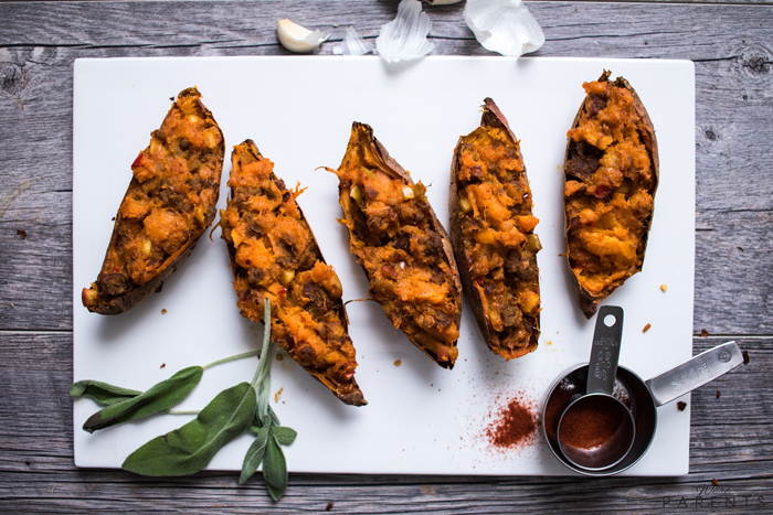 how do you make twice baked sweet potatoes