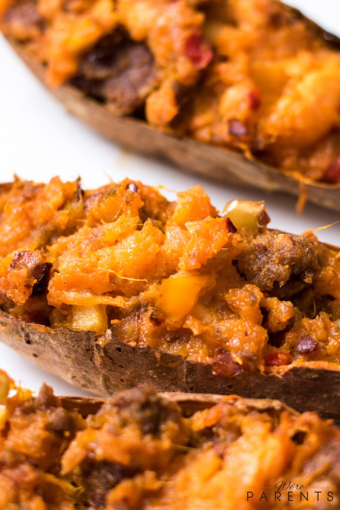 thanksgiving twice baked sweet potatoes