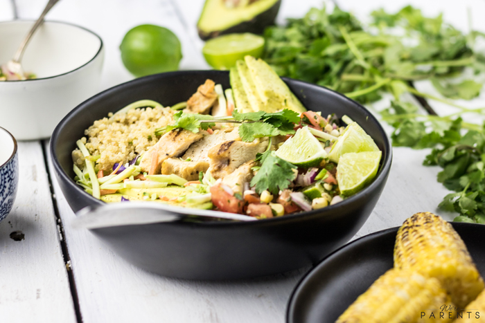 simple chicken quinoa bowl recipe
