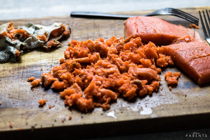 how to shred salmon