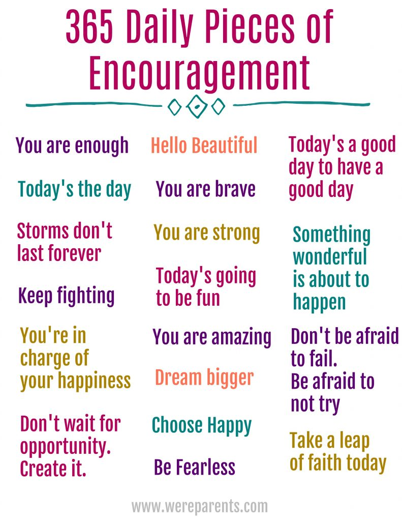 365 daily pieces of encouragement