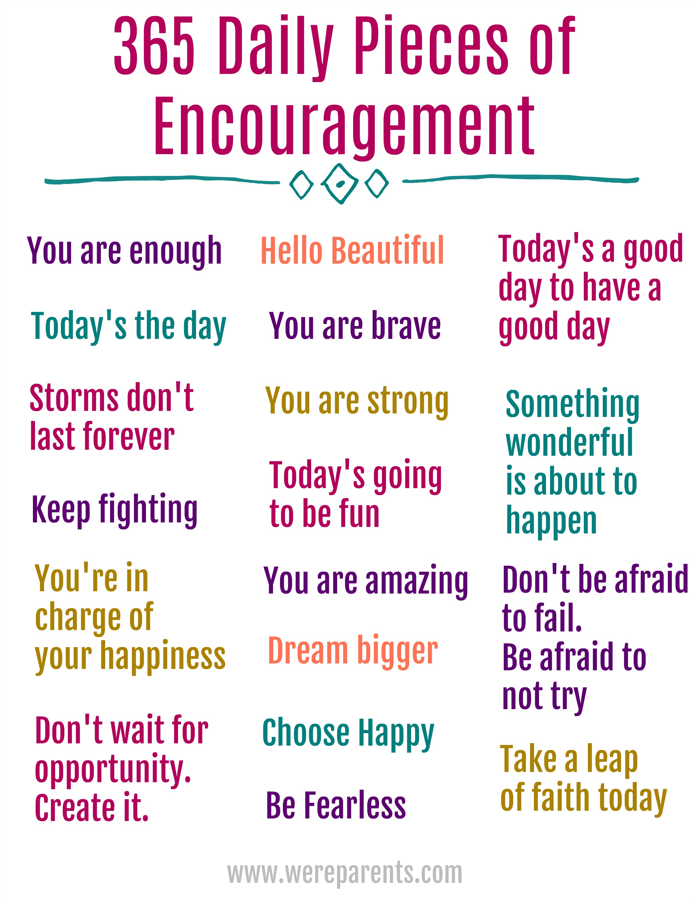 365 Daily Quotes Of Encouragement We Re Parents