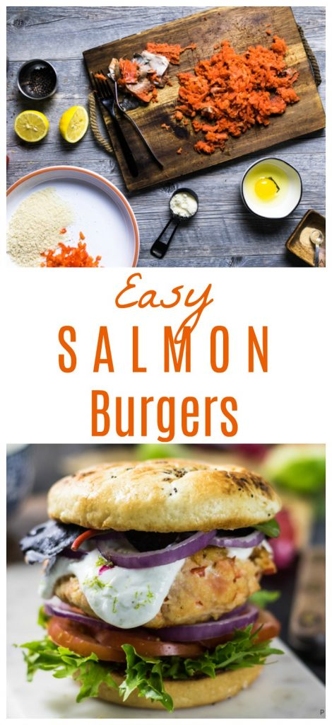easy way to make salmon burgers