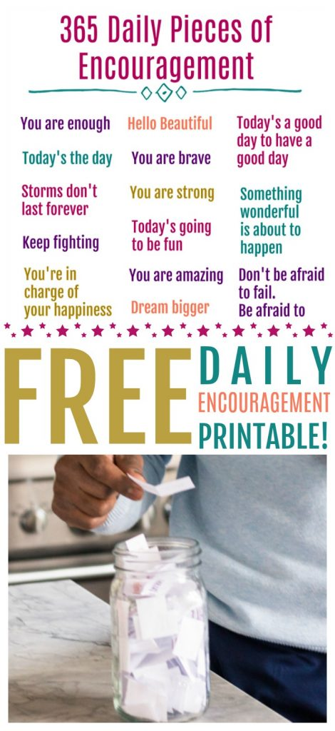 daily encouragement for kids