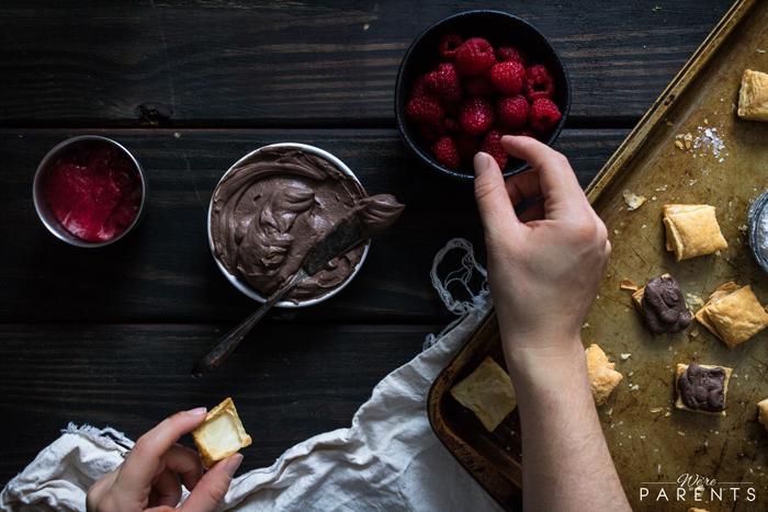 Mini Chocolate Raspberry Napoleons - We're Parents