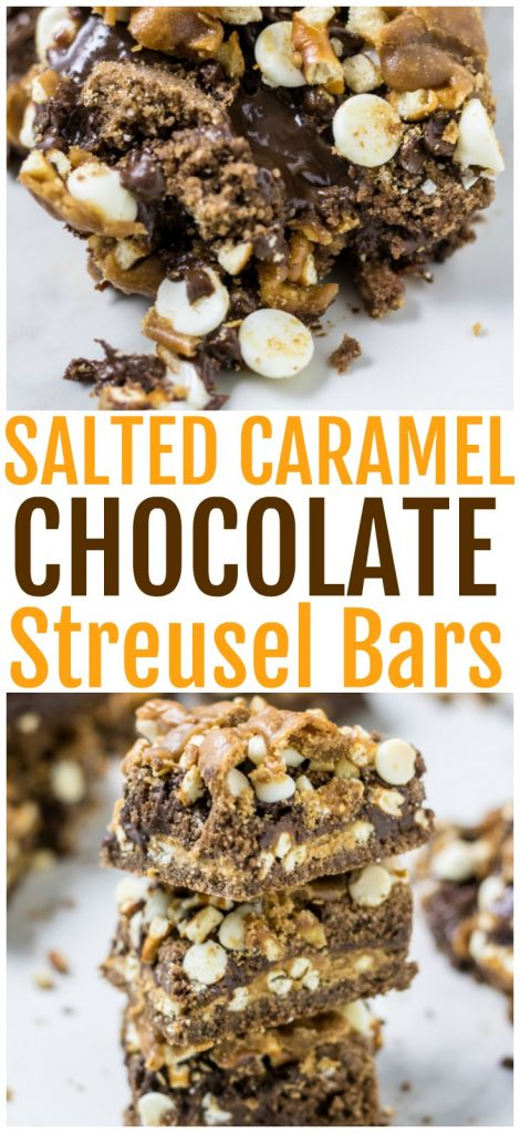 Salted Caramel Chocolate Streusel Bars Pinterest