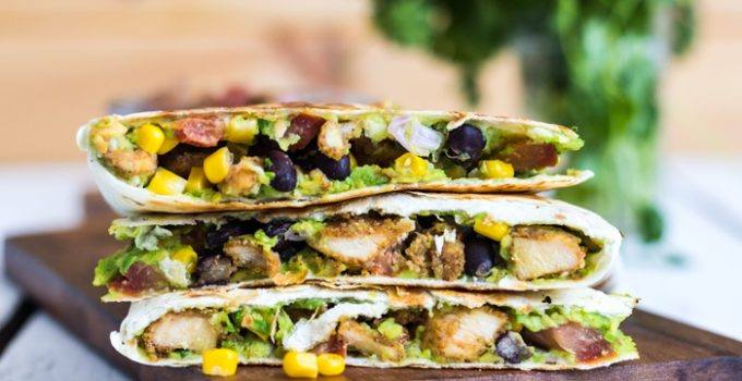 Dairy Free Baked Chicken Quesadillas