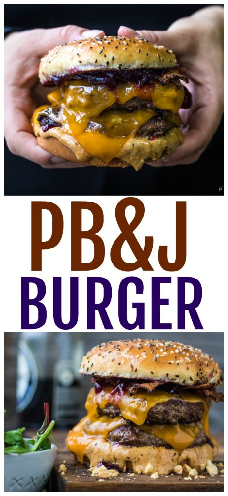 how to make a peanut butter and jelly burger