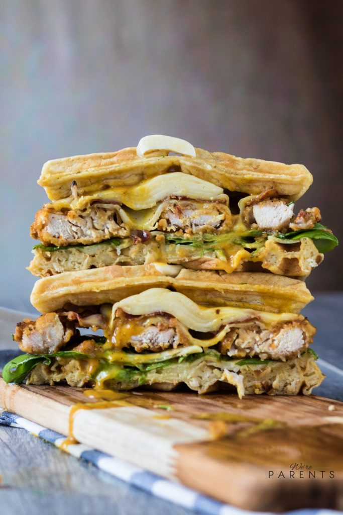 Chicken And Waffles Grilled Cheese Sandwich We Re Parents