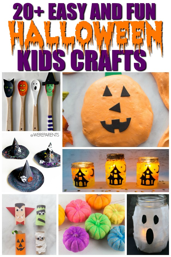 12 Spooky Pumpkin Face Stickers for Halloween CraftsKids Halloween Crafts