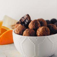 Vegan Dark Chocolate & Orange Truffles