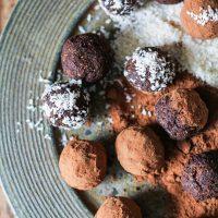 Rum Cardamom Fig Chocolate Truffles (Vegan)