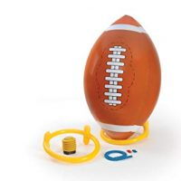 4 Foot Giant Inflatable Football with Tee and Pump