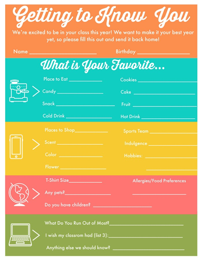 graphic relating to Teacher Favorite Things Printable named Academics Favourite Variables - The College or university Offer That By yourself Need to